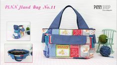 PINN Hand Bag No 11_PINN SHOP - great video of a closed zip topped bag with lots of interior pockets in the lining.