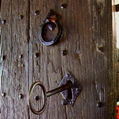 Door and key at St. Michael's Parish in East Coker, England. A little church attended by some of my ancestors.