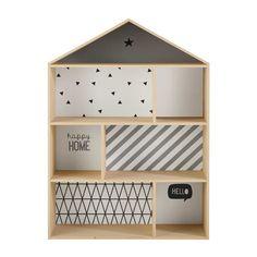 Biblioteca casa infantil de madera L 102 cm Graphikids
