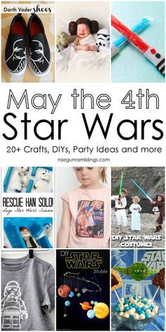 Star Wars party ideas, kid activities, crafts, diy's, clothes, and more. Perfect for May the 4th.