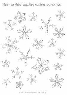 Zimowe szablony i karty pracy