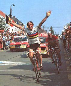 Hennie Kuiper - 1975 Winner of the rainbow stripes.