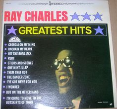 "Ray Charles ""Greatest Hits"" 1962 Vinyl Record 1971 Repress"