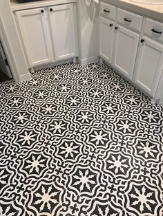 Toledo Tile Stencils from Royal Design Studio - Painting Bathroom Flooring with Custom Stencil Design - DIY Decorating - Interior Design Project by Fancy Pants Mommy Co