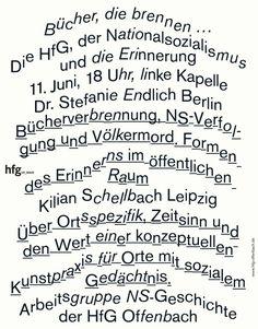 saschalobe: Poster »Bücher, die brennen …«, 2014, SL