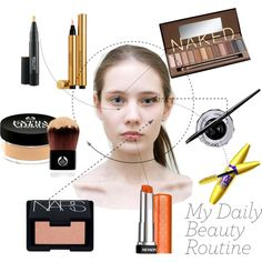 """""""My Daily Beauty Routine"""" by manon-galand on Polyvore"""