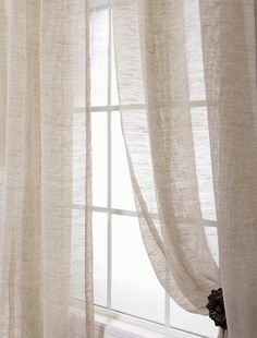 Open Weave Natural Linen Sheer (Item Code SHLNCH-J0106)