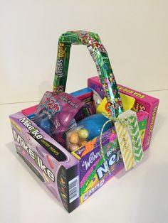 Candy Box Easter Basket #pickyourplum #bakerstwine #woodgifttags #washitape