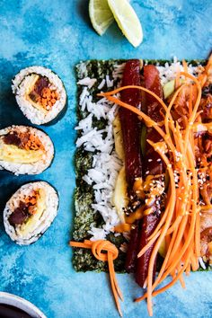 Foods to pair with sauvignon blanc: Sushi Appetizers For Party, Appetizer Recipes, Dinner Recipes, Dinner Ideas, Tempura, Kimchi, Homemade Sushi Rolls, Sauce Sriracha, Seafood Recipes