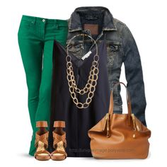 Navy & Green by uniqueimage