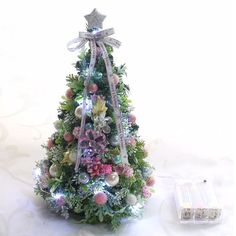 20球の乾電池式のLEDライト付。【高島屋限定】オリジナルクリスマスツリーS