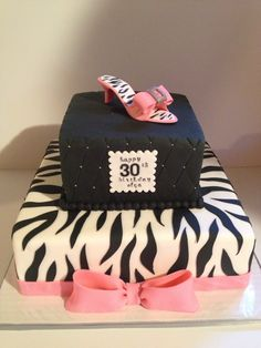 Hot Pink & Zebra 30th Birthday Cake - Kyrsten's Sweet Designs | Specialty Cakes and Cookie Favors
