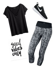 """Good vibes only"" by julia3smith on Polyvore featuring NIKE and H&M"
