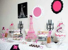 A PARIS themed candy bar is always gorg..
