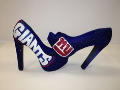 ny giants stillettos… don't really want these but they're fabulous