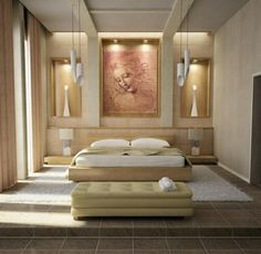 wohnideen-für-schlafzimmer-design-modern-pastellfarben-gemälde-wanddeko
