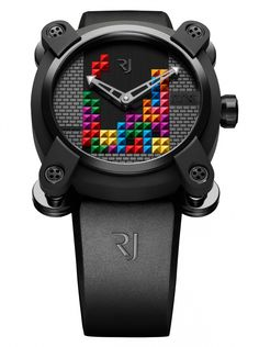 Romain Jerome presents a new generational Icon to the wondrous Collaborations collection, bringing us back to the 1980's with an iconic video game favorite – introducing the Romain Jerome Tetris DNA