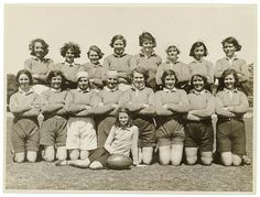 Women's rugby team, New South Wales, Australia, possibly Sydney, 1930s. Date 1930s