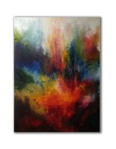 Items similar to Acrylic painting on canvas Modern decor gift Abstract wall art Blue orange Abstract canvas art Living room Office wall art canvas decor art on Etsy Trippy Painting, Oil Painting Abstract, Acrylic Painting Canvas, Aleta, Abstract Canvas Art, Yellow Painting, Art Reproductions, Etsy, Artwork