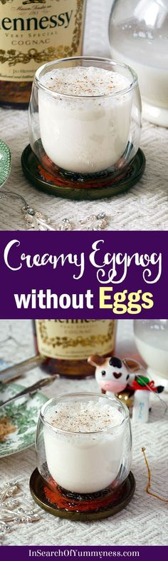 This eggless eggnog recipe has lots of festive flavour, without the risk of food poisoning! Get the #recipe at InSearchOfYummyness.com via @InSearchOfYummy