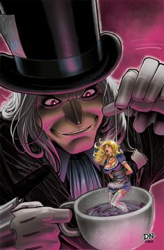 Mad Hatter Cover #2, David Nakayama on ArtStation at http://www.artstation.com/artwork/mad-hatter-cover-2
