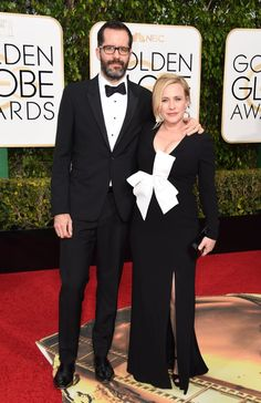 Pin for Later: These Celebrity Couples Amped Up the PDA at the Golden Globe Awards Eric White and Patricia Arquette