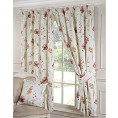 shabby chic living room curtains - How to Create Shabby Chic Living . Retro Curtains, Vintage Curtains, Shabby Chic Curtains, Pleated Curtains, Floral Curtains, Shabby Chic Bedrooms, Bedroom Vintage, Small Bedrooms, Window Curtains
