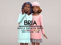 Bria Ruffled Sweater Dress at Onyx Sims • Sims 4 Updates