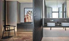 The Peer penthouse is located in one of Tel Aviv's prestigious high rise tower's. The inspiration for this project is a Manhattan luxurious penthouse. Sliding Door Panels, Entrance Foyer, Glass Partition, Aluminium Doors, French Oak, Italian Furniture, Stone Flooring, Pent House, Stripes Design