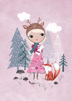 """Rebecca Jones, """"Deer Girl"""""""