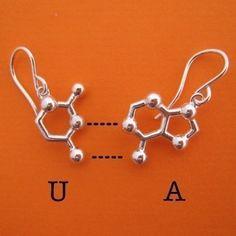 RNA base pair earrings!   MolecularMuse via Etsy