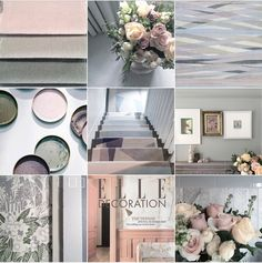 New Neutrals by Michelle Ogundehin. Bye Bye beige'n'white, hello tearose, palest peach, mint and lavender hues. The New Neutrals Insta-colourscape. Follow feed for full captions and credits. All flowers by The Real Flower Company.