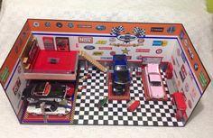 Diorama Garage 1.24 con accesorios