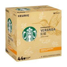 Starbucks Veranda Medium Roast Coffee - Keurig K-Cup Pods - Coffee Farm, Coffee Pods, Single Serve Coffee, K Cups, Blended Coffee, Lactose Free, Coffee Roasting, Corn Syrup, Keurig