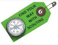 Scouting compass reminder pin- good for Roundtables on JSN