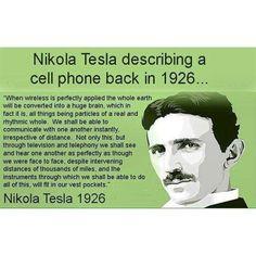 Nikola Tesla describing a cell phone back in 1926
