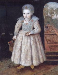 """Lettice Newdigate, Age 2"" by an unknown artist (1606)"