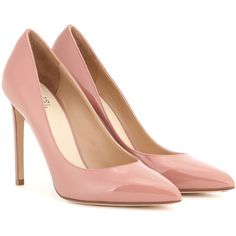 Francesco Russo Patent Leather Pumps (4,075 GTQ) ❤ liked on Polyvore featuring shoes, pumps, heels, pink, pink patent shoes, patent pumps, pink patent pumps, patent shoes and pink heeled shoes