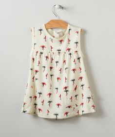 Your little girl will love to spin, dance and jump in this fun summer sundress with sweet nostalgic fly fishing lure print pattern. Exclusively from the artists at Hallmark Baby.