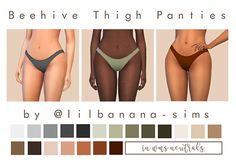 Lana CC Finds - sim-bubble: Beehive Thigh Panties Recolour I've...