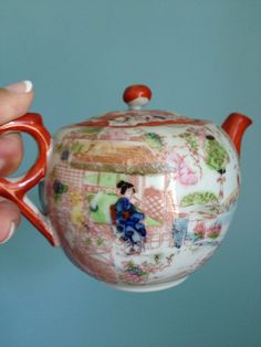 Have one just like this, a gift from my mother-in-law! Vintage Japanese Teapot