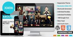 Xiara - Responsive WordPress One Page Parallax by breecode Want awesome Sliders in WordPress, take a look to our new item!Xiara is an Responsive Onepage Parallax Theme. Xiara is a smooth, s