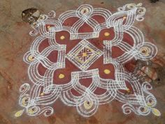 Traditional kolam for festivity
