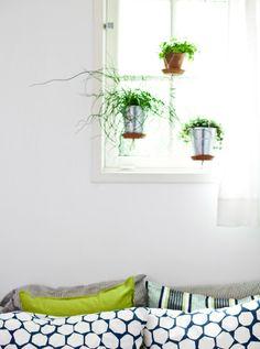 Crea un jardín colgante con macetas
