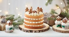 Salted Caramel, Pecan and Gingerbread Cake