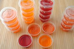 Gourmet Jell-O Shots: Jolly Rancher, Dreamsicle, Cherry Amaretto, & Peach Pie Flavors