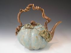 Green Pumpkin Teapot.
