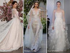 Spring 2017 Bridal Fashion Trends: Wedding Dresses with Veils & Trains