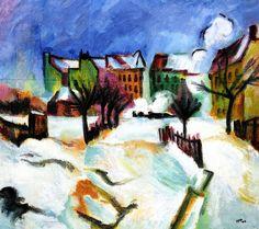 Snowscape  Hermann Max Pechstein - 1917