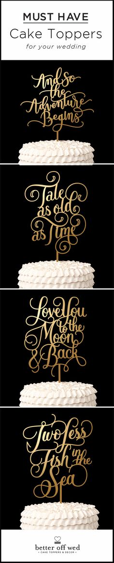 If you thought you didn't want a cake topper these will change your mind! www.betteroffwed.etsy.com